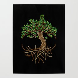 Rope Tree of Life. Rope Dojo 2017 black background Poster