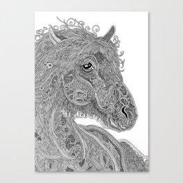 Doodle Horse Canvas Print
