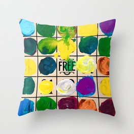 Free Play Every Day  Throw Pillow