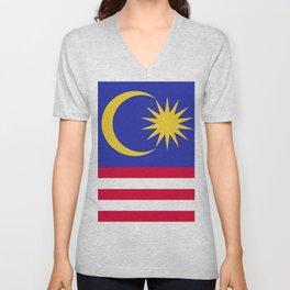 Malaysia flag emblem Unisex V-Neck