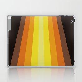 Retro Warm Tone 70's Stripes Laptop & iPad Skin
