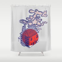 cabin Shower Curtains featuring Cabin by Devin Soisson