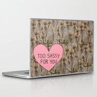 sassy Laptop & iPad Skins featuring Sassy Cats by Skrinkladado