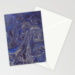 Deep Blue Marble Stationery Cards