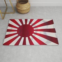 Japanese Rising Sun Flag Rug
