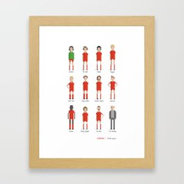 Liverpool - All-time squad Framed Art Print