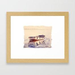 Barque à Thonon Framed Art Print
