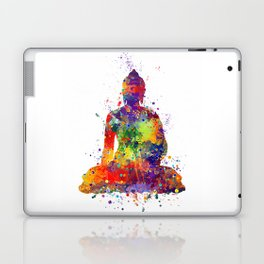 Buddha Watercolor Yoga Poster Zen decor Laptop & iPad Skin