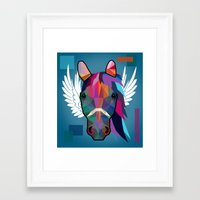 horse Framed Art Prints featuring horse  by mark ashkenazi