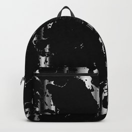 Black and Silver Marble Pattern Design Backpack