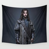 hobbit Wall Tapestries featuring aidan turner,hobbit  , hobbit  games, hobbit  blanket, hobbit  duvet cover,lord of the rings by ira gora