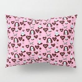aspri petra white stone heart kalimera pink Pillow Sham