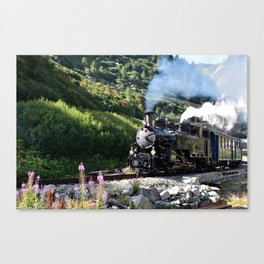 Steam Railway Furka-Bergstrecke Canvas Print