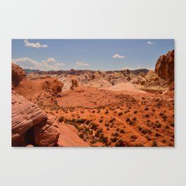 Red Valley II Canvas Print