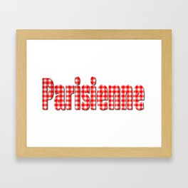 Parisienne Gingham Word Framed Art Print