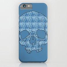 Vintage blue skull Slim Case iPhone 6s