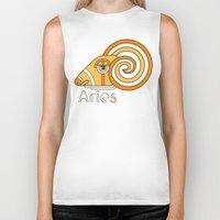 deco Biker Tanks featuring Deco Aries by Jorge Garza