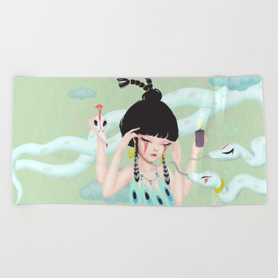 concentrate Beach Towel