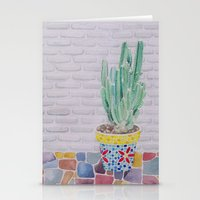 cactus Stationery Cards featuring Cactus by Rabbits In The Sky