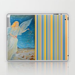 Bless me | Guardian Angels are Here | Angel of Abundance | Love Laptop & iPad Skin