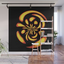 Dancing fire balls Wall Mural