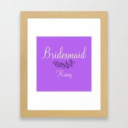 Bridesmaid - Krissy Framed Art Print