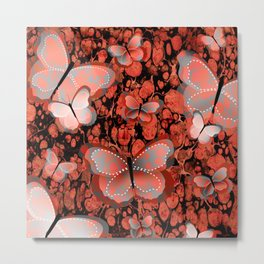 Butterfly Fantasy, Abstract Art Metal Print