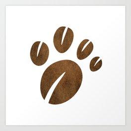 Coffee Bean Bear Paw Art Print