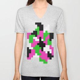 Girl Boss neon color blocks Unisex V-Neck