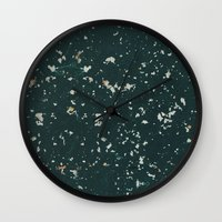 stone Wall Clocks featuring Stone by Judith Abbott
