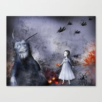 halloween Canvas Prints featuring Halloween by Sona