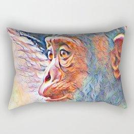 Aquarell Baby Chimp Rectangular Pillow