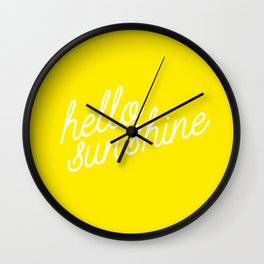 Hello Sunshine Script Wall Clock
