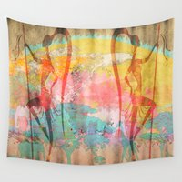 african Wall Tapestries featuring African Beauties by Robin Curtiss