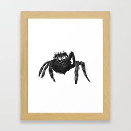 Small Boi Jumping Spider Framed Art Print
