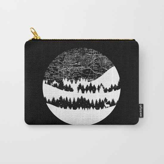 Map Silhouette Circle Carry-All Pouch