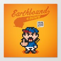 earthbound Canvas Prints featuring Earthbound & Down by Jango Snow