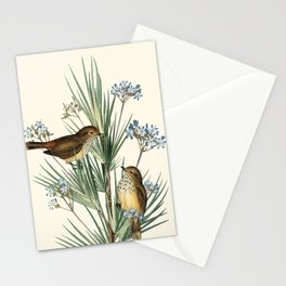 Little Birds and Flowers III Stationery Cards