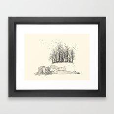TREES ARE DYING Framed Art Print