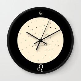 Leo - Black Wall Clock