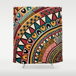 Tribal ethnic background Shower Curtain