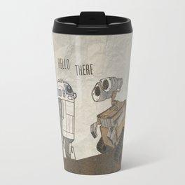 R2D2 and Wall E Travel Mug
