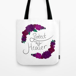 Protect Thy Healer Floral Graphic Tote Bag