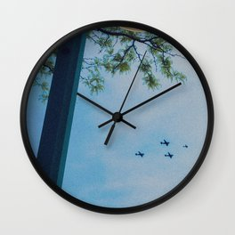 4 Planes in the Sky & Tree, B Wall Clock