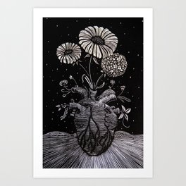 Flowers From Within. Art Print