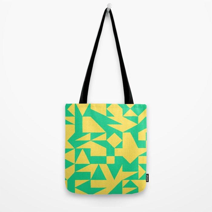 English Square (Yellow & Green) Tote Bag