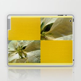 Pale Yellow Poinsettia 1 Blank Q7F0 Laptop & iPad Skin