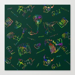 Magic symbols Canvas Print