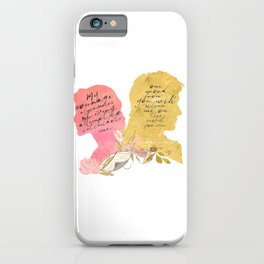 pride and prejudice - lizzy and darcy iPhone Case