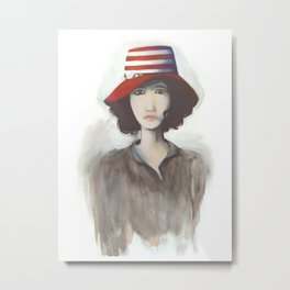 Portrait de Chine Metal Print